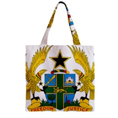 Coat Of Arms Of Ghana Zipper Grocery Tote Bag by abbeyz71