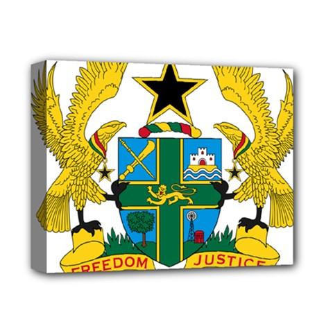 Coat Of Arms Of Ghana Deluxe Canvas 14  X 11  by abbeyz71