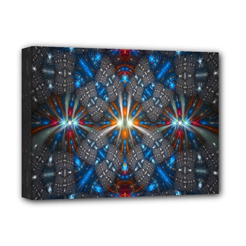 Fancy Fractal Pattern Deluxe Canvas 16  X 12   by Simbadda