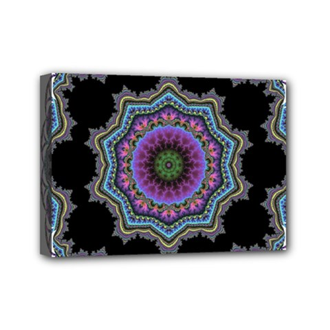 Fractal Lace Mini Canvas 7  X 5  by Simbadda