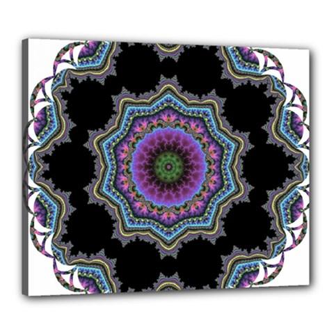 Fractal Lace Canvas 24  X 20  by Simbadda