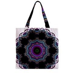 Fractal Lace Zipper Grocery Tote Bag by Simbadda