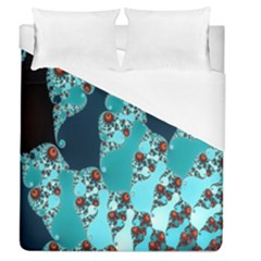 Decorative Fractal Background Duvet Cover (queen Size) by Simbadda