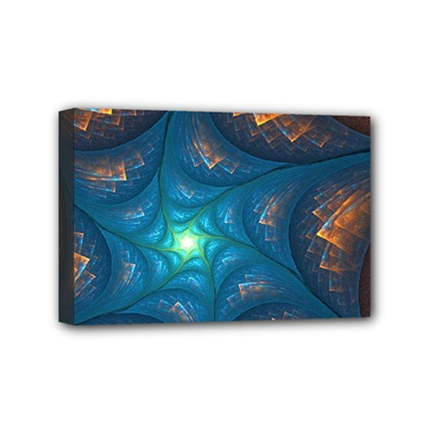 Fractal Star Mini Canvas 6  X 4  by Simbadda