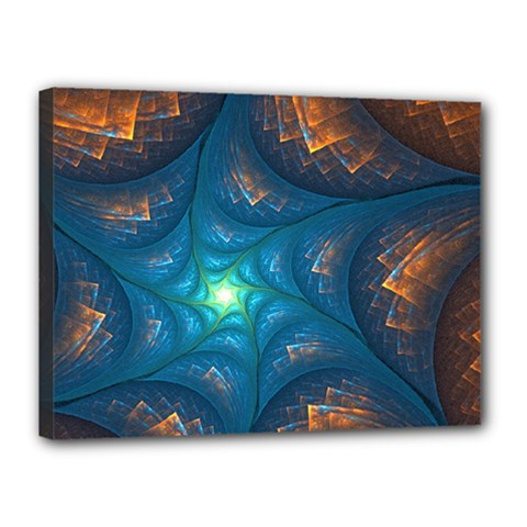 Fractal Star Canvas 16  X 12  by Simbadda