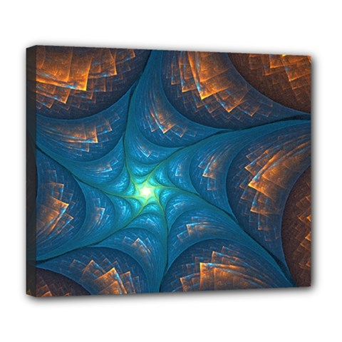 Fractal Star Deluxe Canvas 24  X 20   by Simbadda
