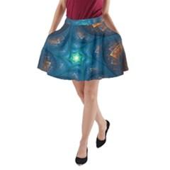 Fractal Star A Line Pocket Skirt by Simbadda