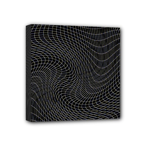 Distorted Net Pattern Mini Canvas 4  X 4  by Simbadda