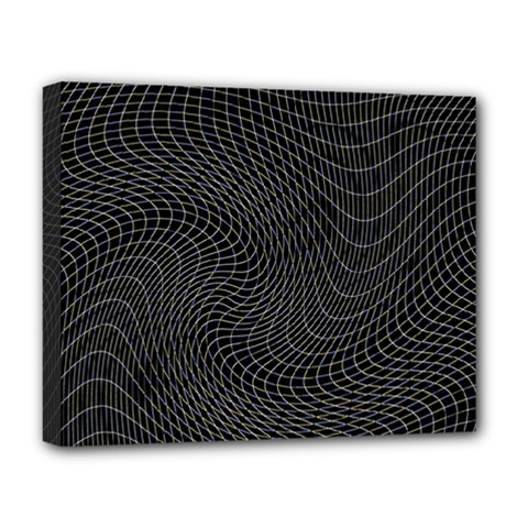Distorted Net Pattern Deluxe Canvas 20  X 16   by Simbadda