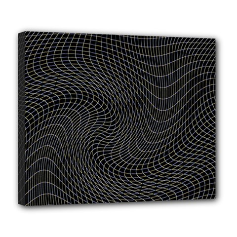 Distorted Net Pattern Deluxe Canvas 24  X 20   by Simbadda