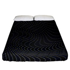 Distorted Net Pattern Fitted Sheet (king Size) by Simbadda