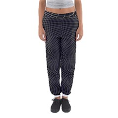 Distorted Net Pattern Women s Jogger Sweatpants by Simbadda