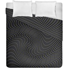 Distorted Net Pattern Duvet Cover Double Side (california King Size) by Simbadda