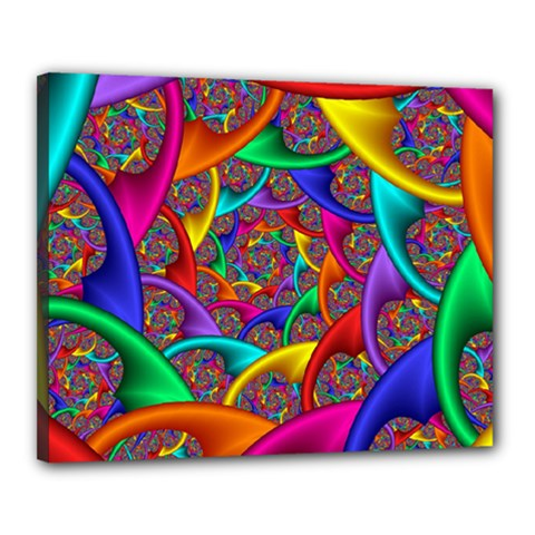 Color Spiral Canvas 20  X 16  by Simbadda