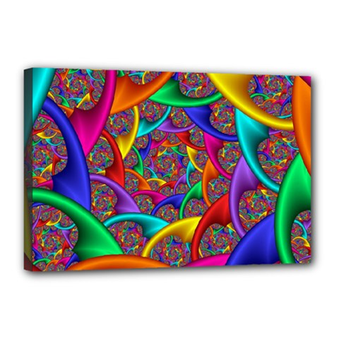 Color Spiral Canvas 18  X 12  by Simbadda