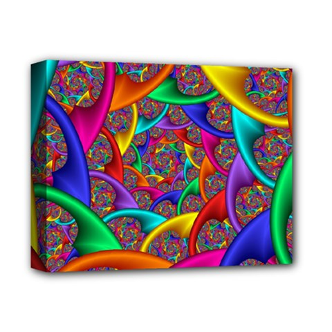 Color Spiral Deluxe Canvas 14  X 11  by Simbadda