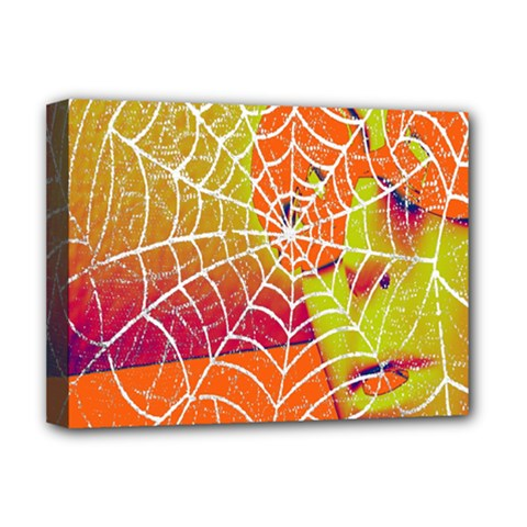 Orange Guy Spider Web Deluxe Canvas 16  X 12   by Simbadda
