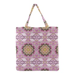 Floral Pattern Seamless Wallpaper Grocery Tote Bag by Simbadda