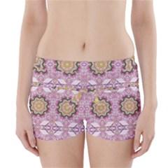 Floral Pattern Seamless Wallpaper Boyleg Bikini Wrap Bottoms by Simbadda