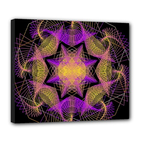 Pattern Design Geometric Decoration Deluxe Canvas 24  X 20   by Simbadda