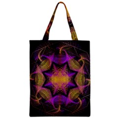 Pattern Design Geometric Decoration Zipper Classic Tote Bag by Simbadda