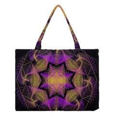 Pattern Design Geometric Decoration Medium Tote Bag by Simbadda