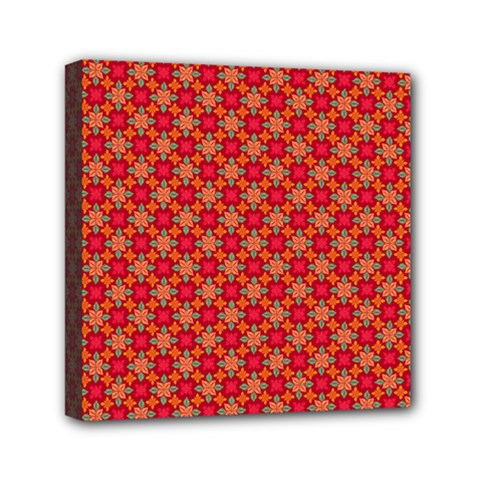 Abstract Seamless Floral Pattern Mini Canvas 6  X 6  by Simbadda