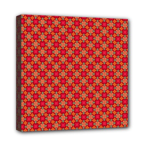 Abstract Seamless Floral Pattern Mini Canvas 8  X 8  by Simbadda