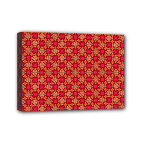 Abstract Seamless Floral Pattern Mini Canvas 7  X 5  by Simbadda