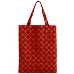 Abstract Seamless Floral Pattern Zipper Classic Tote Bag by Simbadda