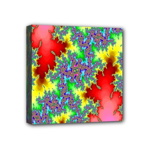 Colored Fractal Background Mini Canvas 4  X 4  by Simbadda