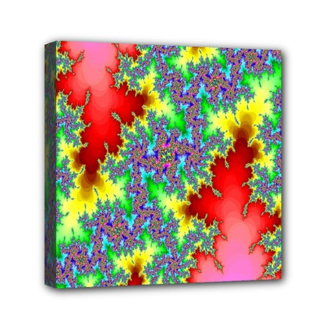 Colored Fractal Background Mini Canvas 6  X 6  by Simbadda