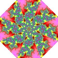 Colored Fractal Background Folding Umbrellas by Simbadda