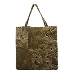 Peacock Metal Tray Grocery Tote Bag by Simbadda