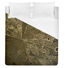Peacock Metal Tray Duvet Cover (queen Size) by Simbadda