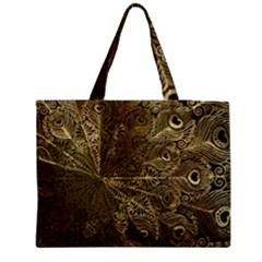 Peacock Metal Tray Medium Zipper Tote Bag by Simbadda
