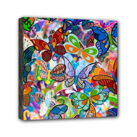 Color Butterfly Texture Mini Canvas 6  X 6  by Simbadda