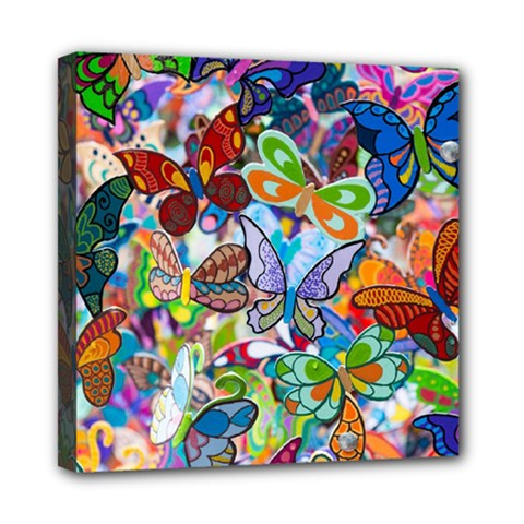 Color Butterfly Texture Mini Canvas 8  X 8  by Simbadda