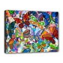 Color Butterfly Texture Canvas 16  x 12  View1