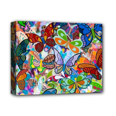 Color Butterfly Texture Deluxe Canvas 14  X 11  by Simbadda