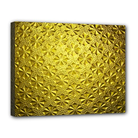 Patterns Gold Textures Canvas 14  X 11  by Simbadda