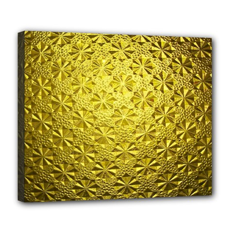 Patterns Gold Textures Deluxe Canvas 24  X 20   by Simbadda
