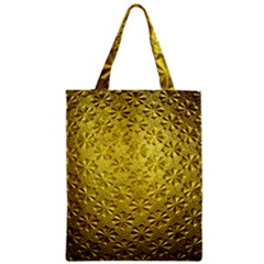 Patterns Gold Textures Zipper Classic Tote Bag by Simbadda