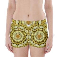 Fractal Flower Boyleg Bikini Wrap Bottoms by Simbadda