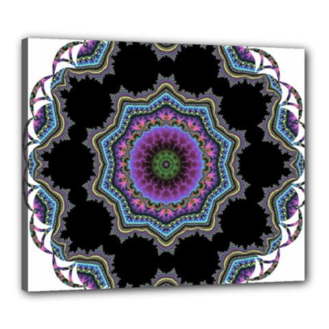 Fractal Lace Canvas 24  X 20  by Simbadda