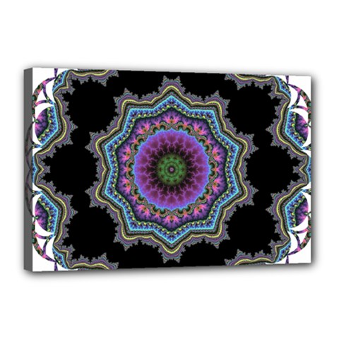 Fractal Lace Canvas 18  X 12  by Simbadda