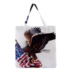 Independence Day United States Grocery Tote Bag by Simbadda