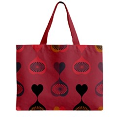 Heart Love Fan Circle Pink Blue Black Orange Zipper Mini Tote Bag by Alisyart
