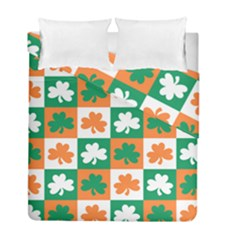 Ireland Leaf Vegetables Green Orange White Duvet Cover Double Side (full/ Double Size) by Alisyart