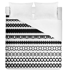 Love Heart Triangle Circle Black White Duvet Cover (queen Size) by Alisyart